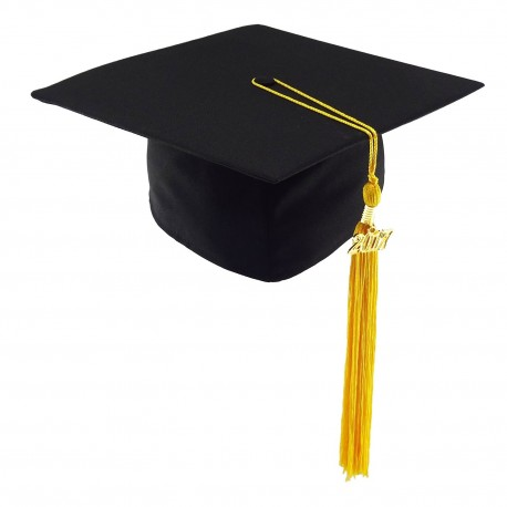 CHILDREN'S SIZE Graduation Cap MATT - black