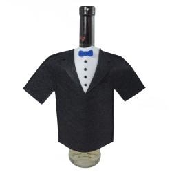Suit for bottle of wine - tuxedo