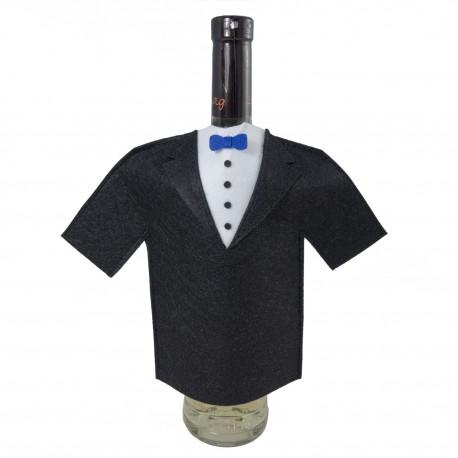 Oblek na fľašu vina - smoking