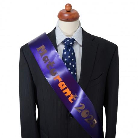 Purple Graduation Sash - satin