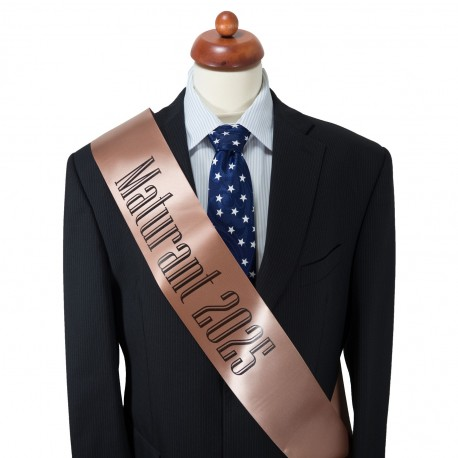 Rose Gold Graduation Sash - satin