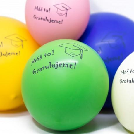 Balóniky na oslavu promócie
