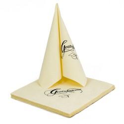 Gift for graduation-set of luxury napkins-Vanilla